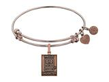Angelica Collection Brass with Pink Finish Proud Daughter U.S. Army Expandable Bangle style: PGEL1309