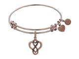 Brass Pink Finish Eternal Love Charm On Pink Angelica Collection Bangle style: PGEL1357