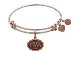 Brass With Pink Finish #1 Sister Charm ForAngelica Bangle style: PGEL1789