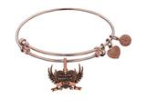 Brass With Pink Finish In Loving Memory Of Mom Cha Rm For Angelica Collection Bangle style: PGEL1795