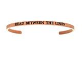 "Intuition Stainless Steel Pink Finish ""read Between The Lines""Cuff Bangle style: PINT5082"