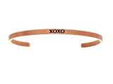 "Intuition Stainless Steel Pink Finish ""xoxo""Cuff Bangle style: PINT5084"