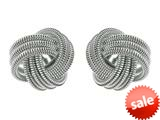Finejewelers Sterling Silver Love Knot Earrings 12mm style: 420028