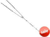 26 inches Silver Rhodium Rosary Bead Necklace style: 460038