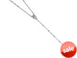 Finejewelers 26 inches Silver Rhodium Rosary Bead Necklace style: 460043
