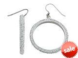 Round White Crystal Hoop Earrings style: 460135