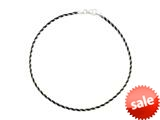 Sterling Silver with Black Rhodium 10 Inches Snake Chain Ankle Bracelet style: 460180
