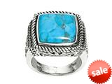Sterling Silver Simulated Turquoise Ring style: 460186