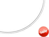 14kt Yellow and White Gold 16 Inch Bright Cut Reversible Omega Necklace with Box Catch style: 460202