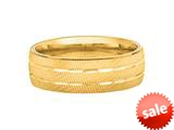 6mm Hollow Lightweight Bright Cut Wedding Band/ Ring style: 460215