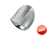 Finejewelers Sterling Silver Rhodium Plated Textured Stardust Bright Cut 28mm Wide Concave Ring style: 460286