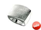 Finejewelers Rhodium Plated Textured Stardust Bright Cut Square Ring style: 460288