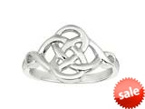 925 Sterling Silver Polished Four Circle Celtic Weaved Ring style: 460349