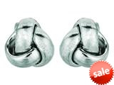 14kt White Gold Small Love Knot Earrings 6.5mm style: 460361