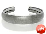 Black Rhodium Sterling Silver Stardust Cuff Bangle style: 460386
