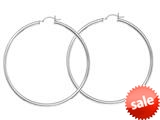 Sterling Silver All Shiny Hoop Earrings style: 460390