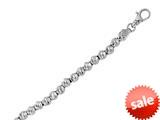 "Sterling Silver 7.25"" 4.8mm Shiny Ladies Bracelet style: 460410"