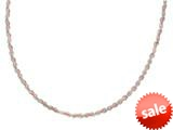 Sterling Silver and Rose Bright Cut Necklace style: 460415