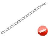 "Sterling Silver 8.5"" 9.95mm bright-cut Curb Lite Mens Bracelet style: 460435"