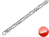 "Sterling Silver 8.5"" 12.30mm Shiny Fancy Tiger Eye Mens Bracelet style: 460437"