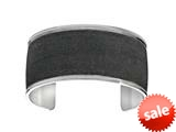 Stainless Steel with Black Glitter Finish Cuff Bangle style: 460443