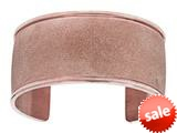 Stainless Steel with Rose Glitter Finish Cuff Bangle style: 460447