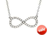 Finejewelers Sterling Silver Infinity Shiny Cable Ladies Necklace style: 460453