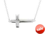 Sterling Silver Shiny Cable Cross Ladies Necklace style: 460457