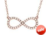 Sterling Silver with Rose Finish Infinity Shiny Cable Ladies Necklace style: 460458