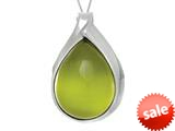 """Finejewelers Sterling Silver Green Simulated Cat""""s Eye Ladies Pendant Necklace style: 460469"""