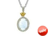 Phillip Gavriel Sterling Silver and 18k Yellow Gold Oval Briollette Rock Candy Ladies Pendant style: 460482
