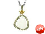 Phillip Gavriel Sterling Silver and 18k Yellow Gold Briollette Green Rock Candy Ladies Pendant style: 460485