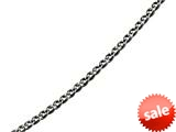 "Sterling Silver 22"" Shiny 6.85mm Bright Cut Double Curb Fancy Link Necklace style: 460488"