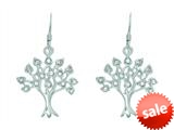 Finejewelers Silver with Rhodium Finish Tree of Life Drop Earrings style: 460499