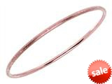 Finejewelers Silver with Rose Finish Shiny Stardust Textured Slip On Bangle style: 460504