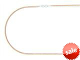 Finejewelers Silver Rhodium, Yellow and Rose Finish Shiny Triple Strand Infinity Cable Chain Necklace style: 460527