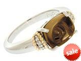 Phillip Gavriel Smoky Quartz Ring with Rough Diamonds style: 460604