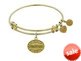 Angelica Collection Non-antique Yellow Stipple Finish Brass godmother Expandable Bangle style: GEL1041
