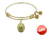 Angelica Collection Antique Yellow Smooth Finish Brass basketball Expandable Bangle style: GEL1043