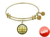 Angelica Collection Antique Yellow Smooth Finish Brass earth Expandable Bangle style: GEL1053