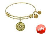 Angelica Collection Antique Yellow Smooth Finish Brass best Friends Expandable Bangle style: GEL1084