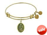 Angelica Collection Antique Yellow Stipple Finish Brass faith Expandable Bangle style: GEL1103