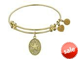 Angelica Collection Non-antique Yellow Stipple Finish Brass starfish Expandable Bangle style: GEL1107