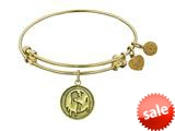 Angelica Collection Antique Yellow Stipple Finish Brass global Warming Expandable Bangle style: GEL1122