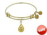 Angelica Collection Non-antique Yellow Stipple Finish Brass water Expandable Bangle style: GEL1143