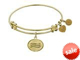 Angelica Collection Non-antique Yellow Stipple Finish Brass air Expandable Bangle style: GEL1144