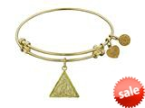 Angelica Collection Non-antique Yellow Stipple Finish Brass fire Expandable Bangle style: GEL1145