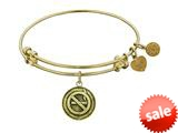 Angelica Collection Antique Yellow Smooth Finish Brass no Smoking Expandable Bangle style: GEL1147