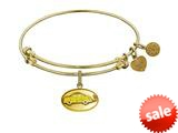 "Angelica Collection Brass with Yellow Finish Friends Phoebe""s Taxi Expandable Bangle style: GEL1295"