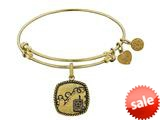 Angelica Collection Brass with Yellow Finish U.S. Army Silhouette Expandable Bangle style: GEL1307